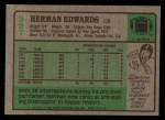 1984 Topps #327  Herman Edwards  Back Thumbnail