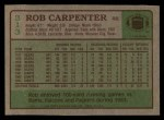 1984 Topps #313  Rob Carpenter  Back Thumbnail