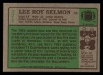 1984 Topps #371  Lee Roy Selmon  Back Thumbnail