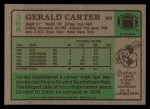 1984 Topps #365  Gerald Carter  Back Thumbnail