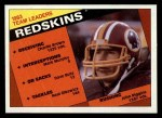 1984 Topps #375   Redskins Leaders Front Thumbnail
