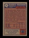 1985 Topps #85  Barry Redden  Back Thumbnail