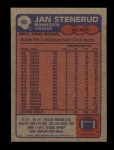 1985 Topps #98  Jan Stenerud  Back Thumbnail