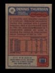 1985 Topps #49  Dennis Thurman  Back Thumbnail