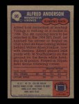 1985 Topps #90  Alfred Anderson  Back Thumbnail