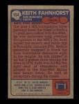 1985 Topps #154  Keith Fahnhorst  Back Thumbnail