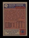 1985 Topps #172  Kevin House  Back Thumbnail