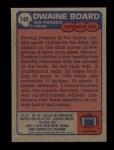 1985 Topps #149  Dwaine Board  Back Thumbnail