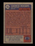1985 Topps #107  George Rogers  Back Thumbnail