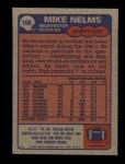 1985 Topps #188  Mike Nelms  Back Thumbnail