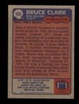 1985 Topps #103  Bruce Clark  Back Thumbnail