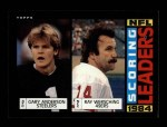 1985 Topps #195   -  Gary Anderson / Ray Wersching Scoring Leaders Front Thumbnail