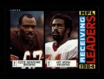 1985 Topps #193   -  Ozzie Newsome / Art Monk Receiving Leaders Front Thumbnail