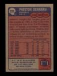 1985 Topps #200  Preston Dennard  Back Thumbnail
