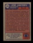1985 Topps #183  Joe Jacoby  Back Thumbnail