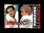 1985 Topps #197   -  Jim Arnold / Brian Hansen Punting Leaders Front Thumbnail