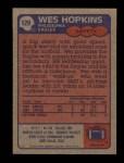 1985 Topps #129  Wes Hopkins  Back Thumbnail