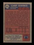 1985 Topps #223  Chip Banks  Back Thumbnail