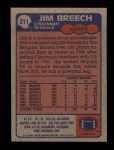1985 Topps #211  Jim Breech  Back Thumbnail