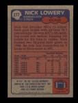 1985 Topps #277  Nick Lowery  Back Thumbnail