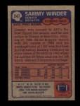 1985 Topps #247  Sammy Winder  Back Thumbnail