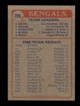 1985 Topps #209   Bengals Leaders Back Thumbnail