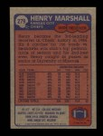 1985 Topps #279  Henry Marshall  Back Thumbnail