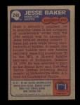 1985 Topps #249  Jesse Baker  Back Thumbnail