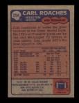1985 Topps #254  Carl Roaches  Back Thumbnail