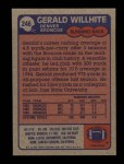 1985 Topps #246  Gerald Willhite  Back Thumbnail