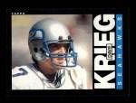 1985 Topps #388  Dave Krieg  Front Thumbnail