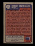 1985 Topps #318  Dwight Stephenson  Back Thumbnail