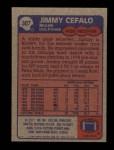 1985 Topps #307  Jimmy Cefalo  Back Thumbnail