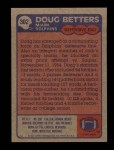 1985 Topps #302  Doug Betters  Back Thumbnail
