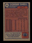 1985 Topps #362  Donnie Shell  Back Thumbnail