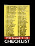 1985 Topps #394   Checklist 1-132 Front Thumbnail