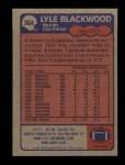 1985 Topps #304  Lyle Blackwood  Back Thumbnail
