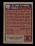 1985 Topps #373  Mike Green  Back Thumbnail