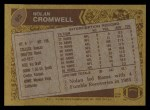 1986 Topps #92  Nolan Cromwell  Back Thumbnail