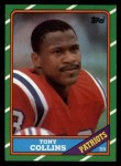 1986 Topps #33  Tony Collins  Front Thumbnail