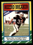 1986 Topps #1  Marcus Allen  Front Thumbnail