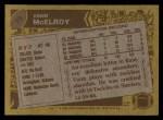 1986 Topps #75  Vann McElroy  Back Thumbnail