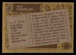 1986 Topps #56  Mike Charles  Back Thumbnail