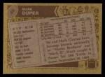 1986 Topps #48  Mark Duper  Back Thumbnail
