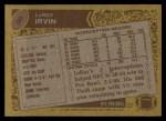 1986 Topps #90  LeRoy Irvin  Back Thumbnail
