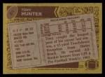 1986 Topps #81  Tony Hunter  Back Thumbnail