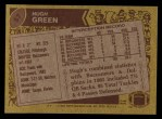 1986 Topps #57  Hugh Green  Back Thumbnail