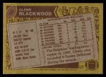 1986 Topps #58  Glenn Blackwood  Back Thumbnail