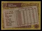 1986 Topps #40  Steve Nelson  Back Thumbnail
