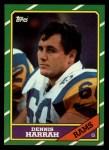 1986 Topps #84  Dennis Harrah  Front Thumbnail